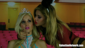 Jessa Rhodes and Charlotte Stokely in a Lesbian Domination video