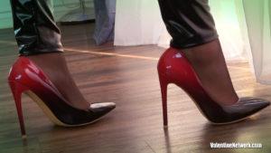 Skyla Novea's feet on stockings and high heels